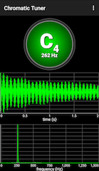 Screenshot from a tuning app
