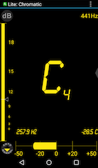 Screenshot of a tuning app Da Tuner