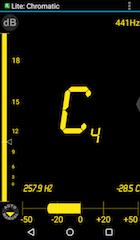 Screenshot of a tuning app Da Tuner