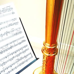 Score and the harp