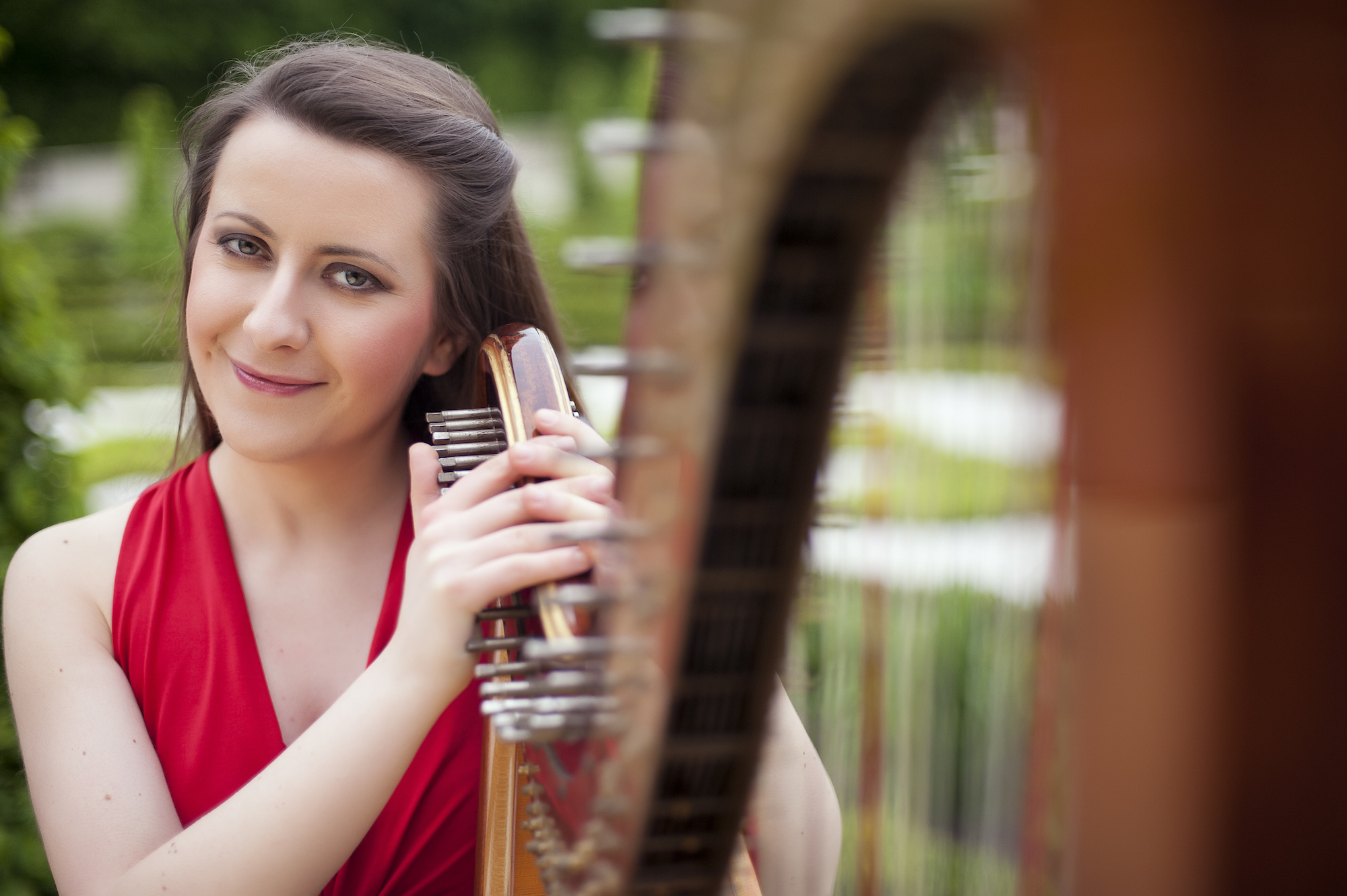 Zuzanna with the harp
