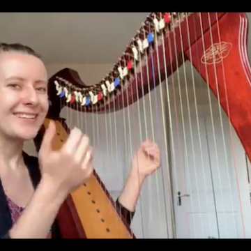 Live 18: How difficult is it to play the harp?