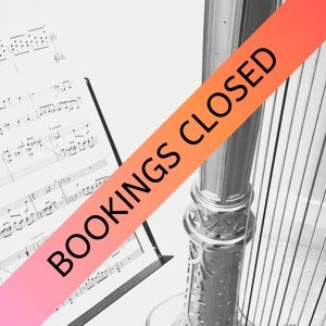 bookings closed harp course