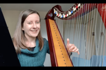 (English) Live 21: How to play spread (or rolled) chords on the harp?