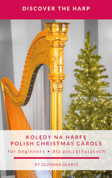 Cover of the Polish Carols with harp and Christmas tree