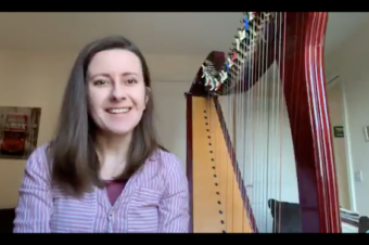 Live Harp Lesson 33: What can I learn to play on the harp in 3 months?