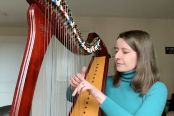 "Live Harp Lesson 37 – ""Mountain Stream"" practice strategies"