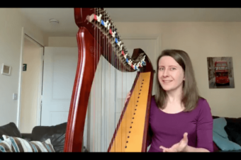 Live Harp Lesson 38 – Fingerings for intervals