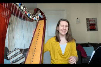 Live Harp Lesson 39 – Big chords and solutions for small hands
