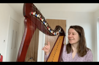 Live Harp Lesson 42 – Why you need to keep thumbs high when playing the harp?