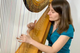 """The Water Is Wide"" for Intermediate Harp and video lesson – Coffee Break Harp 14"