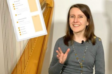 How to create your harp practice routine? FREE practice checklist – Coffee Break Harp 17