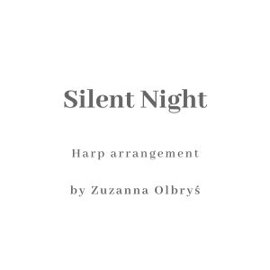 Silent NIght harp arrangement by Zuzanna Olbrys sheet music cover