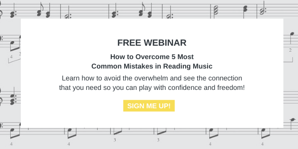 Announcement about a new FREE online workshop on reading music by Zuzanna